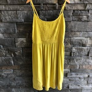 Old Navy Yellow Print Dress, size Medium